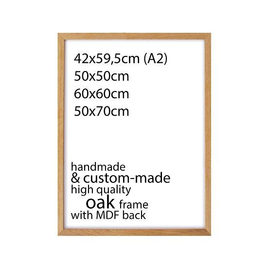 MEDIUM SIZES • Handmade frame - Oak wood
