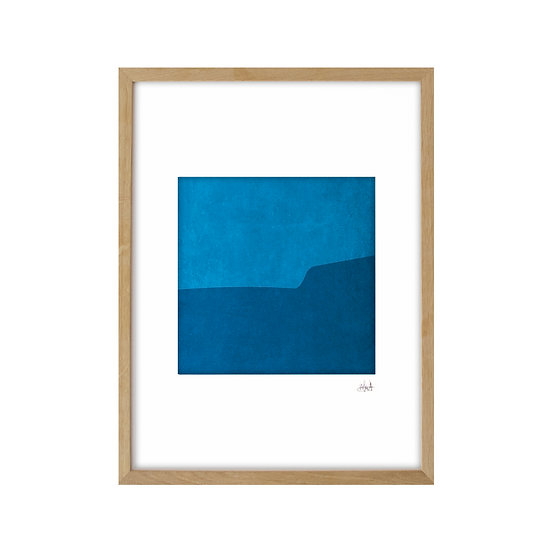Just Blue 01 - framed with mat