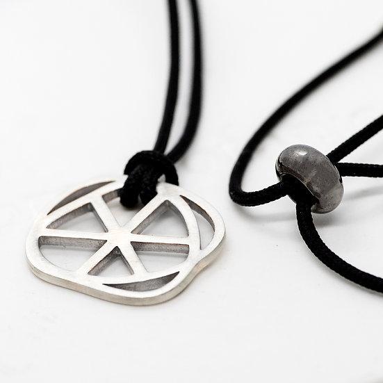 Circle (Silver+Cord)  > small