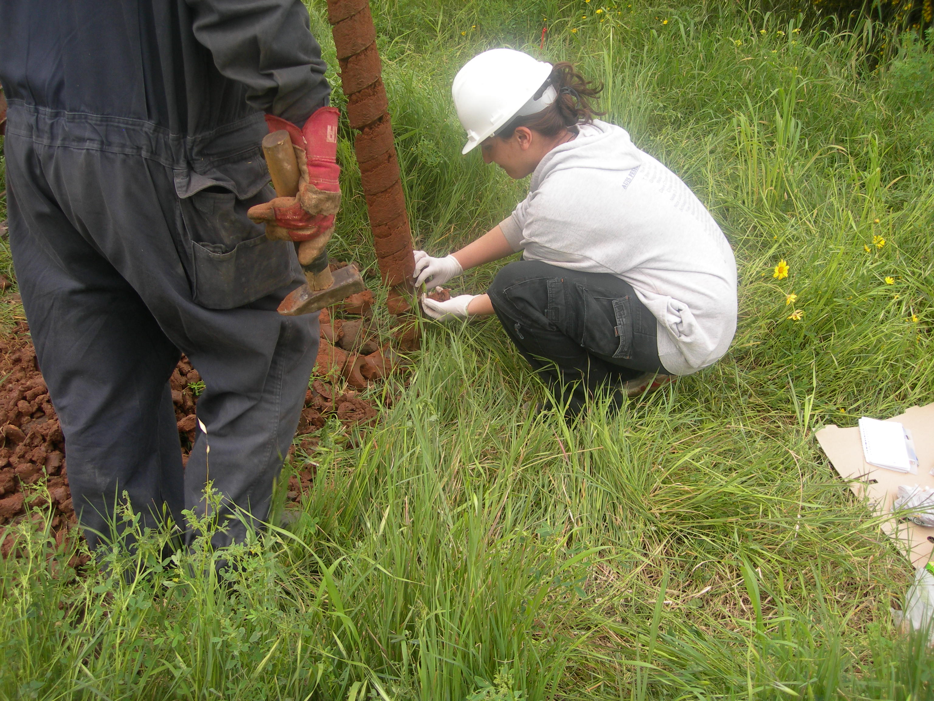 Soil sampling during drilling