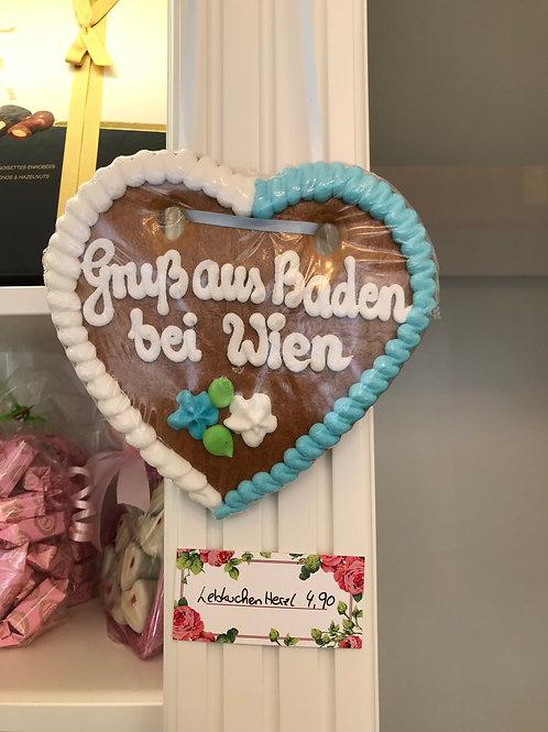 Gruß aus Baden bei Wien Lebkuchenherz