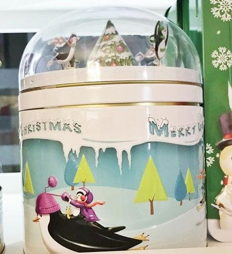 Spieluhr Pinguin gefüllt mit Süßigkeiten