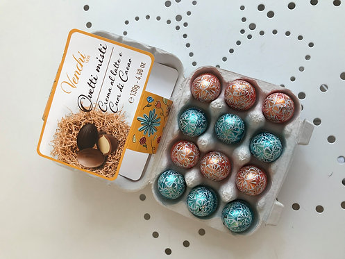 Venchi Eierbox mit Schokoeiern gefüllt
