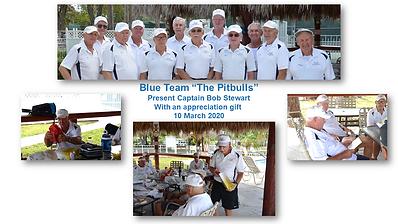 Pitbulls presentation to Capt Bob Stewar