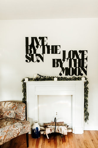 Live By The Sun Love By The Moon Bohemian Geometric Wood Cut Out
