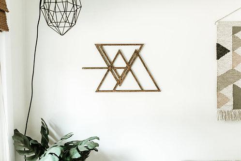 Geometric Mountain Shape Bohemian Geometric Wood Cut Out