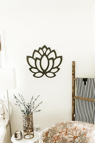 Lotus Flower Bohemian Geometric Wood Cut Out