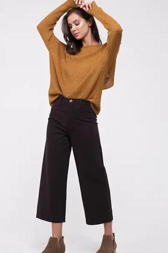 Black Crop Pants