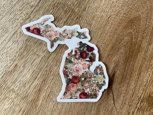 Romantic Michigan Sticker