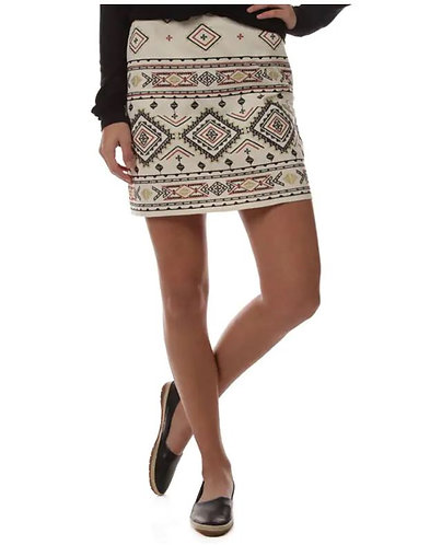 Cream Embroidered Skirt
