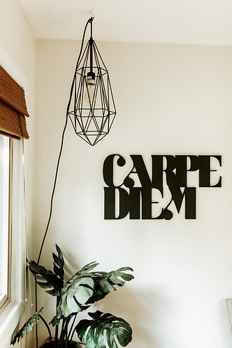 Carpe Diem Bohemian Geometric Wood Cut Out