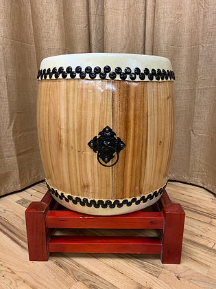 "Taiko Drum - 19"" - Natural Wood"