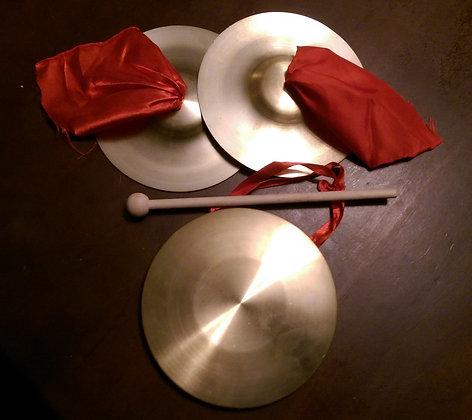 """6"""" Brass Gong & Cymbals Set"""