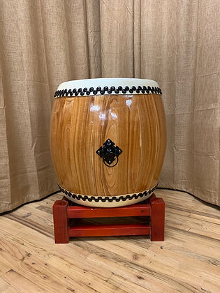 "Taiko Drum - 21"" - Natural Wood"