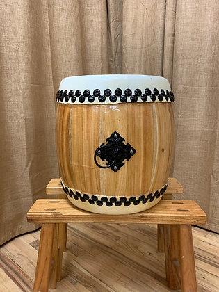 """Taiko Drum - 16"""" - Natural Wood"""