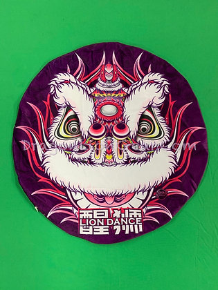 Lion Head Pillow - White / Purple Hoksan