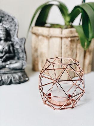 Castiçal Geométrico I - Rose Gold