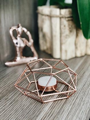 Castiçal Geométrico II - Rose Gold