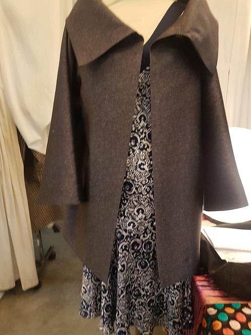 Manteau été en satin de soie/laine