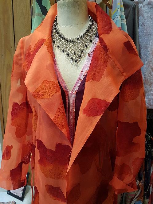 Manteau organza façonné soie