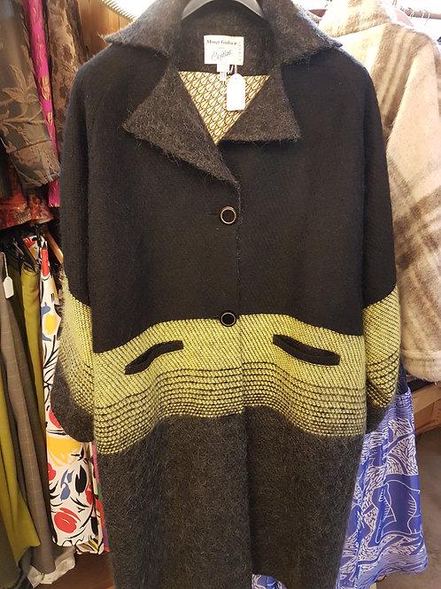 Manteau laine.mohair.doublure soie