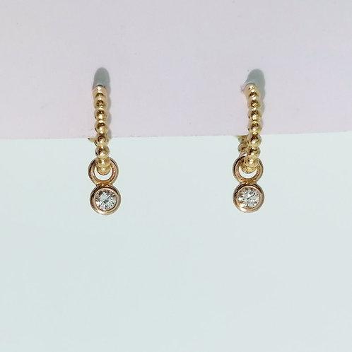 Boucles d'oreilles Barbara Diamants 0.16 cts