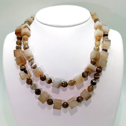 Collier agates naturelles