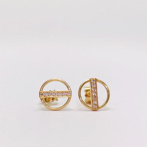 Boucles d'oreilles Nina or diamants 0.06 cts
