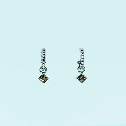 Boucles d'oreilles Barbara diamants Brown 0.15 cts