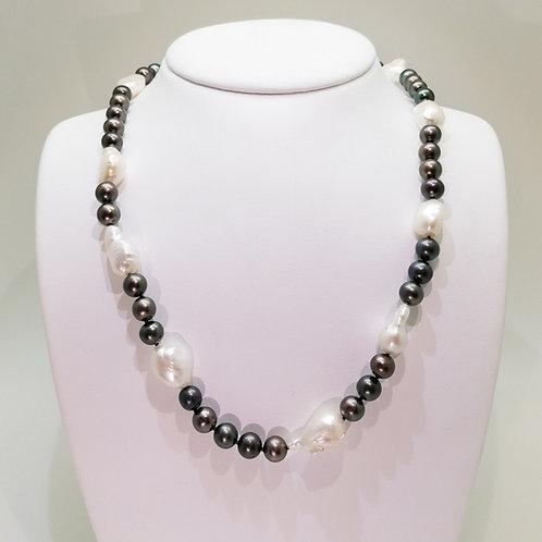 Collier perles de culture d'eau
