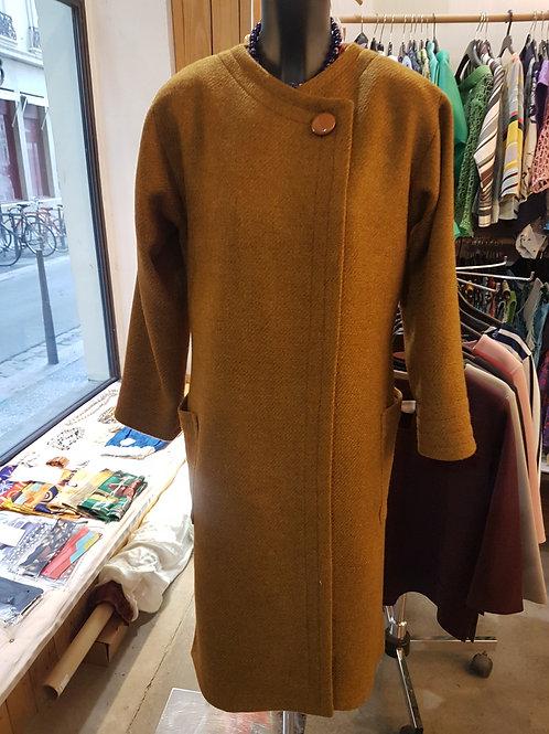 Manteau laine double soie