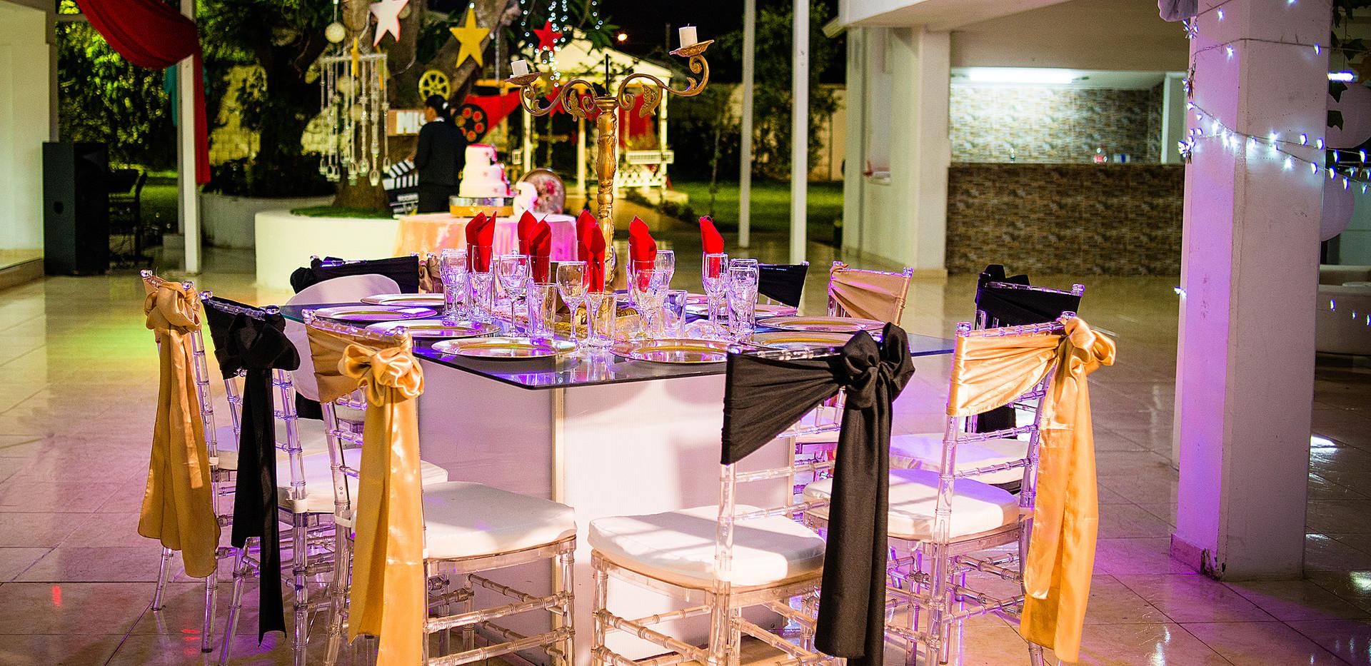 Mesa Y silla Cristal