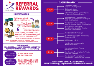 The ISA Group Referral Rewards Programme
