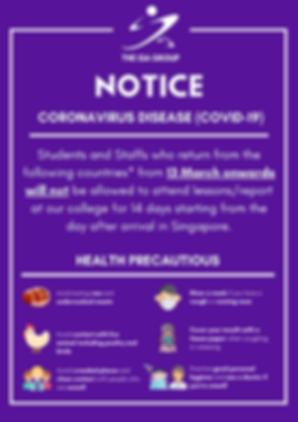 Poster [School Health Notice] Wuhan Viru