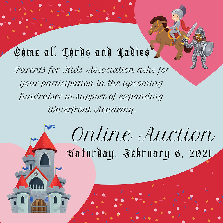 """Be our """"Knight in Shining Armor"""" Online Auction"""