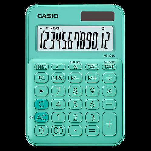 Calculadora Casio Básica Solar e Bateria MS-20UC