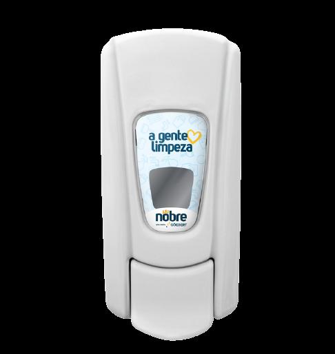 Dispenser Saboneteira Líquida - Com Reservatório - Branco - Linha City - Nobre