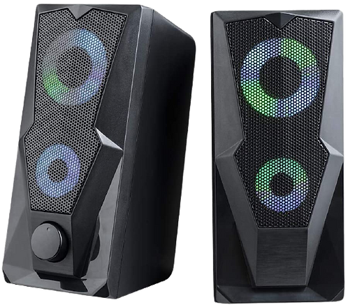 Caixa de Som Gamer 2.0 15W LED RGB SP330 Multilaser