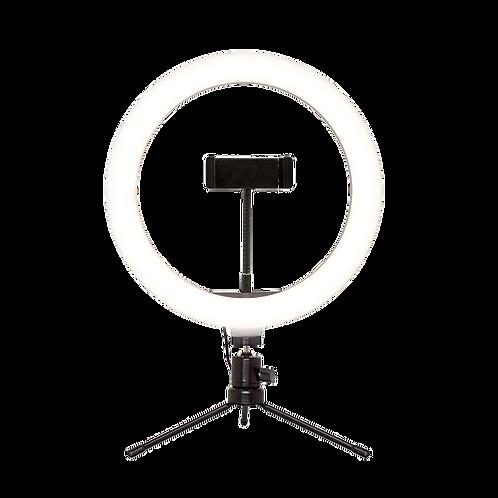 Suporte tipo Ring Light Livestream 10 Pol. com Tripé Ajustavel USB - AC370