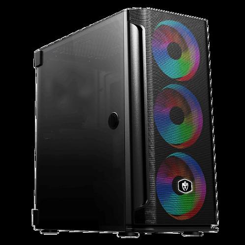 Gabinete Gamer Evolut MESH com 3 Fans RGB Vidro Preto EG812