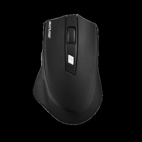 Mouse Sem Fio Multilaser MO291 Recarregável Preto