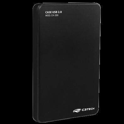 Case C3 Tech p/ HD 2.5´ Preto - CH-200BK