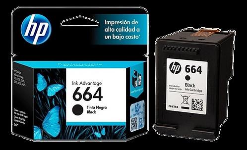 Cartucho de Tinta HP - Preto 664 Original