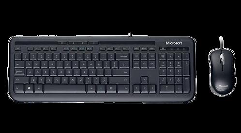 Kit Sem Fio Teclado + Mouse Microsoft Wired Desktop 600