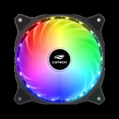 Cooler Fan C3Tech Storm 12cm c/ LED Multicolorido - F9-L150RGB