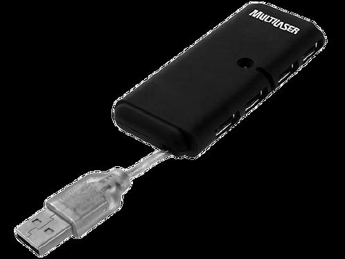 Hub USB 2.0 Slim 4 Portas - Multilaser AC064