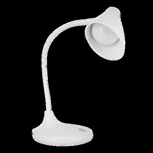 Luminária de mesa branca Luz Led Recarregável Touch 3 Intensidade
