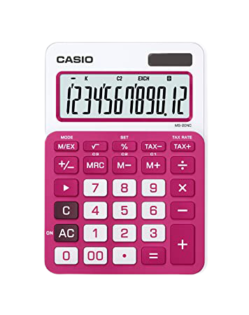 Casio MS-20NC Calculadora Eletrônica Básica (vermelha)