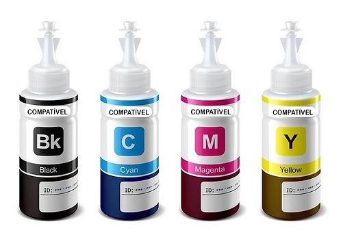 Kit Refil de Tinta Compatível  Epson 100 ml.
