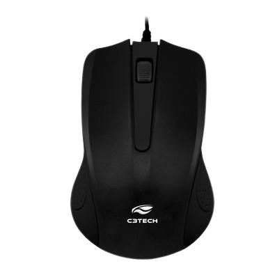 Mouse C3 Tech USB Preto - MS-20BK